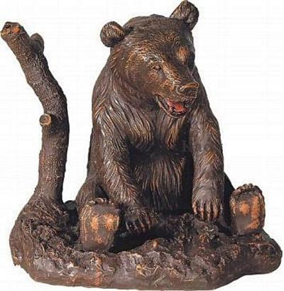 Playful Bear Sculpture