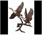 Duck Sculptures - Bronze