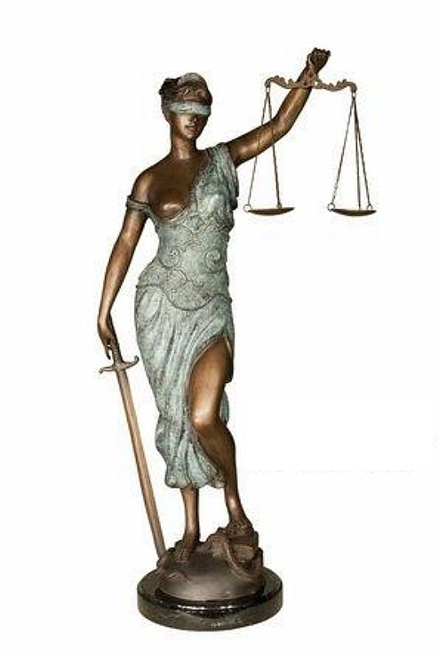 "Lady Justice Statue 34""H"