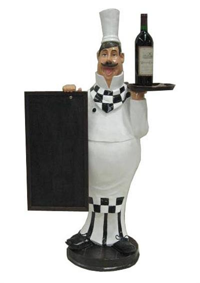 Large Chef with Chalkboard