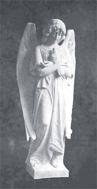 Angel with Dove Sculpture