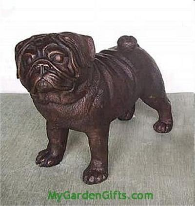 Bronze Pug Statue and Sculpture