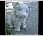 Curious Yorkie Statue