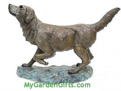 Faithful Labrador Retriever Sculpture - Bronze