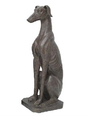 Large Sitting Whippet Statue