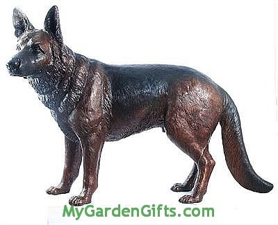 German Shepherd Sculpture