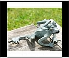 Papa and Baby Frog Sculpture