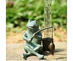Fishing Frog Rain Gauge