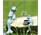 Daddy and Baby Frog Go Fishing Today