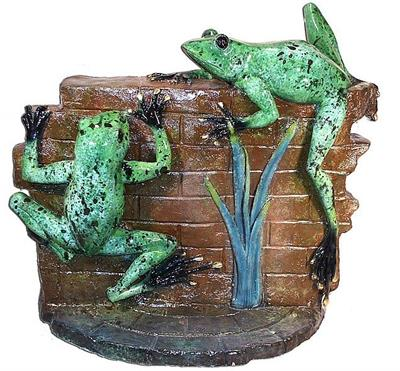 Frogs on the Wall Large Plaque
