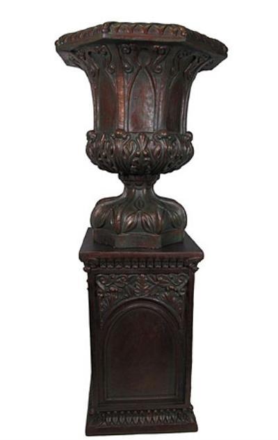 Resin Garden Urn With Pedestal
