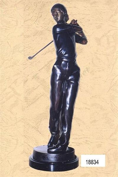 Male Golfer Sculpture - Bronze