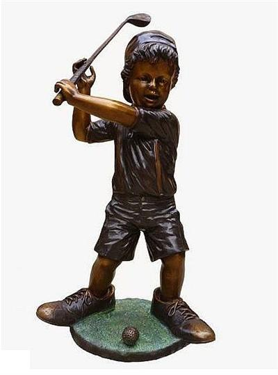 Our Golfer Grandson Sculpture