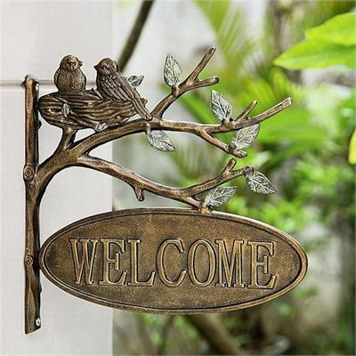 Welcome Bird Sign