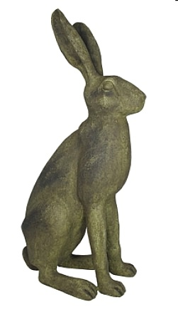 Wild Hare Statue in Antiqued Finish