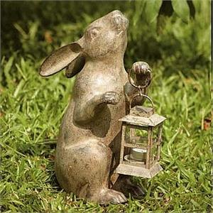 Rabbit Candle Holder and Lantern Statue