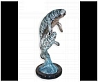 Tabletop Manatee Sculpture - Bronze