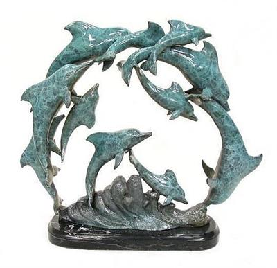 11 Dancing Dolphins Sculpture