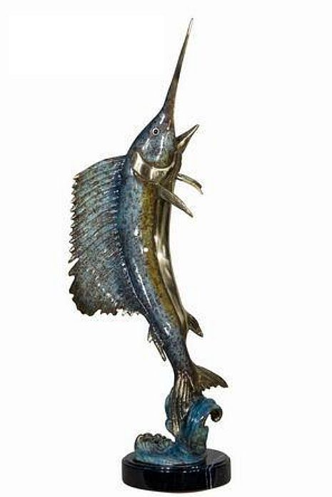 Leap of the Sailfish Large Sculpture