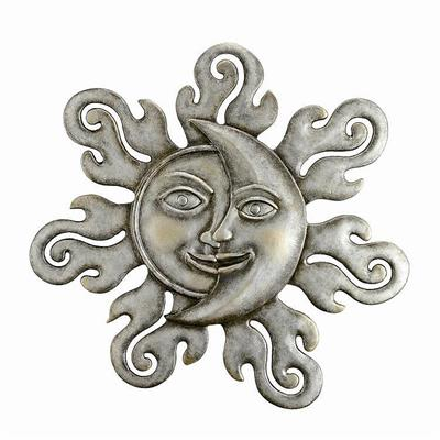 Large Sun and Moon Wall Plaque